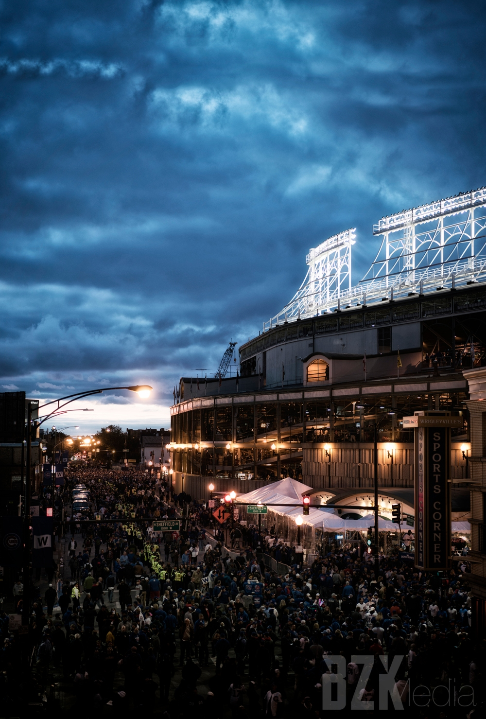 Wrigley during the world series
